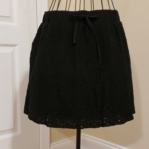Love and Grey Eyelet Lace Skirt